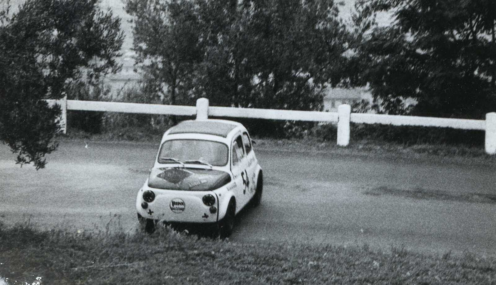 1968 Costantini Franco in difficoltà con la Fiat Abarth 595 cat.Turismo