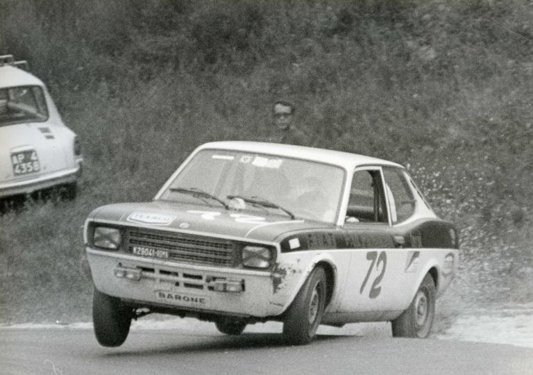 1972 Riccardo Arioti dà spettacolo con la Fiat 128 Coupé