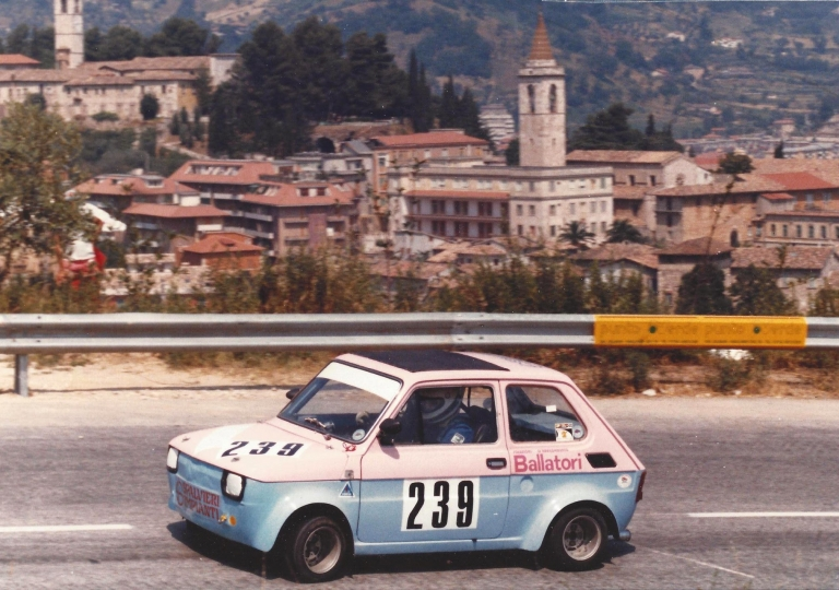 1984 3 L'ascolano Fausto Pietrzela con la Fiat 126 gr.5