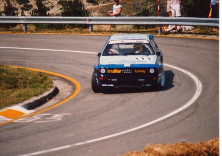 1987 Lo svizzero Janneret su Audi 4 all'ultimo tornante_
