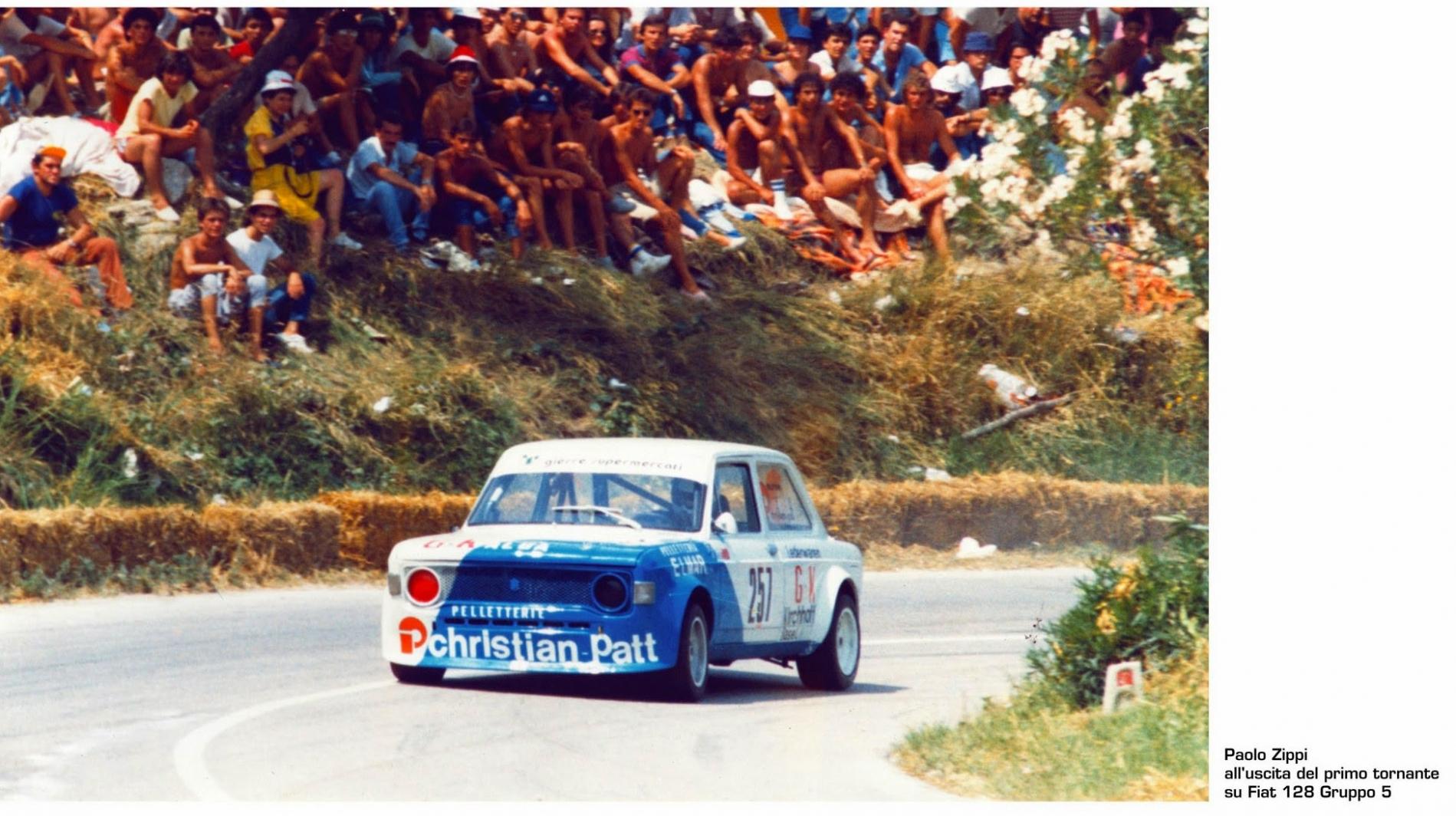 1983 Paolo Zippi all'uscita del 1° tornante